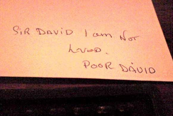 poor sir david