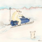 Google Streetview mapping the North Pole now.. Illustration Friday – Snow!
